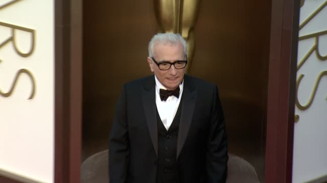 martin scorsese - 86th annual academy awards - arrivals at hollywood & highland center on march 02, 2014 in hollywood, california. - martin scorsese stock videos & royalty-free footage