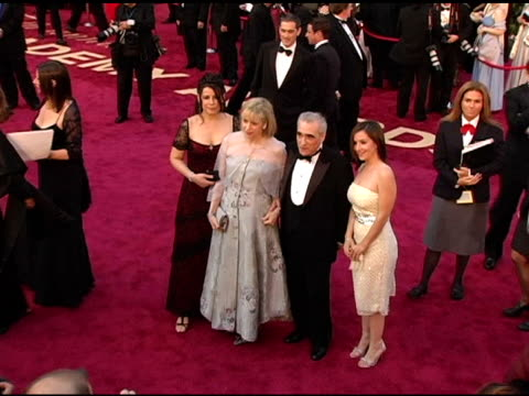 Martin Scorsese and guests with Cate Blanchett at the 2005 Annual Academy Awards Arrivals at the Kodak Theatre in Hollywood California on February 28...