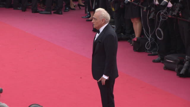 martin scorsese at 'everybody knows ' & opening gala red carpet arrivals on may 8, 2018 in cannes, france. - martin scorsese stock videos & royalty-free footage