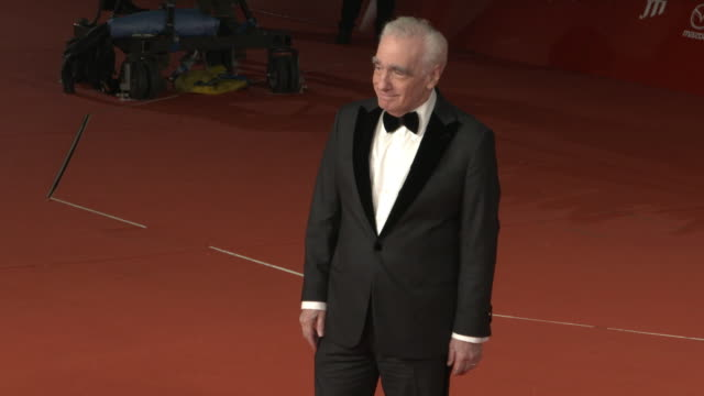 martin scorsese at martin scorsese red carpet 13th rome film fest at auditorium parco della musica on october 20 2018 in rome italy - rome film fest stock videos and b-roll footage