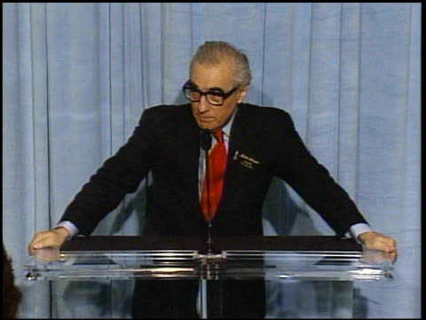 martin scorsese at the 2005 annual academy awards nominee luncheon interview room at the beverly hilton in beverly hills, california on february 7,... - martin scorsese stock videos & royalty-free footage