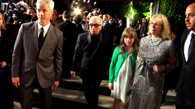 martin scorsese at the 2012 vanity fair oscar party hosted by graydon carter - inside party at west hollywood ca. - martin scorsese stock videos & royalty-free footage
