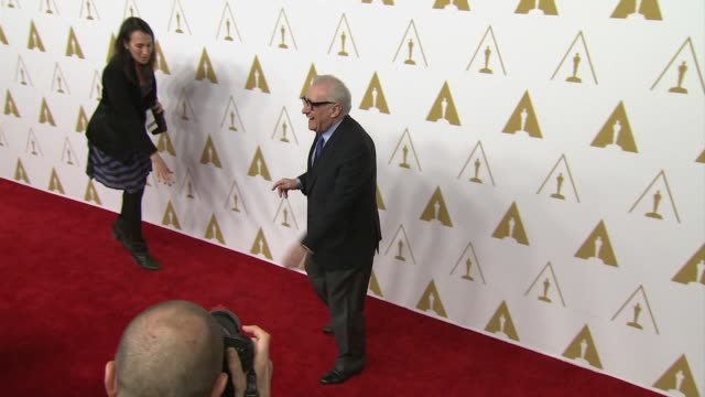 martin scorsese at the 86th academy awards nominee luncheon - reception at the beverly hilton hotel on in beverly hills, california. - martin scorsese stock videos & royalty-free footage