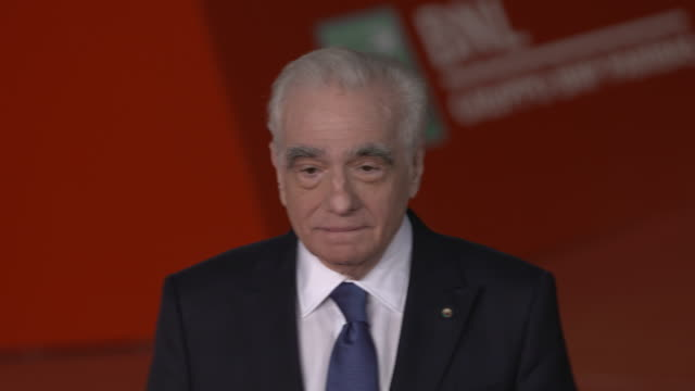 """martin scorsese attends """"the irishman"""" red carpet during the 14th rome film festival on october 21, 2019 in rome, italy. - martin scorsese stock videos & royalty-free footage"""