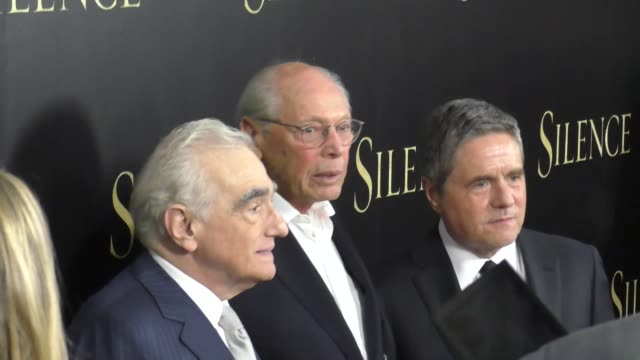 martin scorsese irwin winkler brad grey at the premiere of paramount pictures' 'silence' on january 05 2017 in los angeles california - paramount pictures stock videos & royalty-free footage