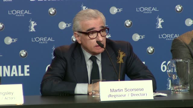 martin scorsese on his past gangster films and how he's in discussion with robert de niro about a new projects at the shutter island press... - martin scorsese stock videos & royalty-free footage