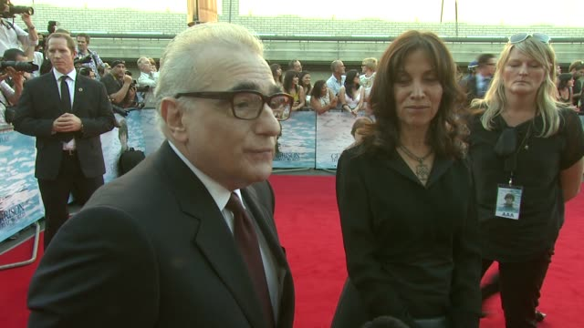 martin scorsese on how the beatles impacted on the united states at the george harrison: living in the material world uk premiere at london england. - george harrison stock videos & royalty-free footage