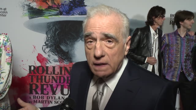 martin scorsese on what he was doing during the time period that the film depicts, on the making of this film at rolling thunder revue: a bob dylan... - martin scorsese stock videos & royalty-free footage