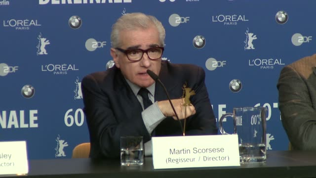 martin scorsese on working with leonardo for nearly ten years and how he's developed at the shutter island press conference: 60th berlin film... - martin scorsese stock videos & royalty-free footage