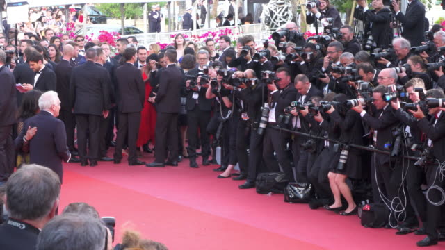 martin scorsese shines on the red carpet of 'everybody knows' - 71st international cannes film festival stock videos & royalty-free footage