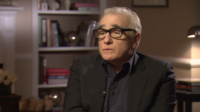 martin scorsese talks about the regeneration of the west side of new york city saying 'they are using the same buildings, restoring them and it's a... - 脚本家点の映像素材/bロール