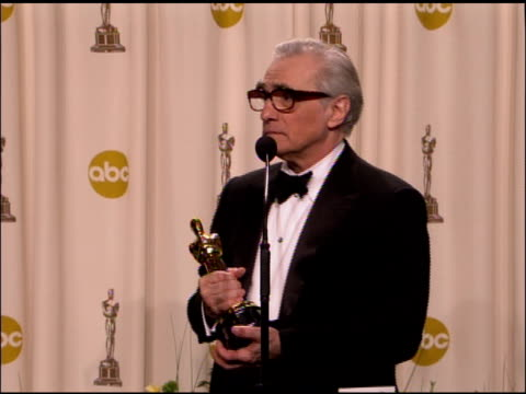 martin scorsese, winner best director for �the departed� at the 2007 academy awards at the kodak theatre in hollywood, california on february 25,... - martin scorsese stock videos & royalty-free footage