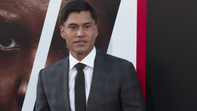 Martin Sensmeier at the 'The Equalizer 2' Premiere at TCL Chinese Theatre on July 17 2018 in Hollywood California