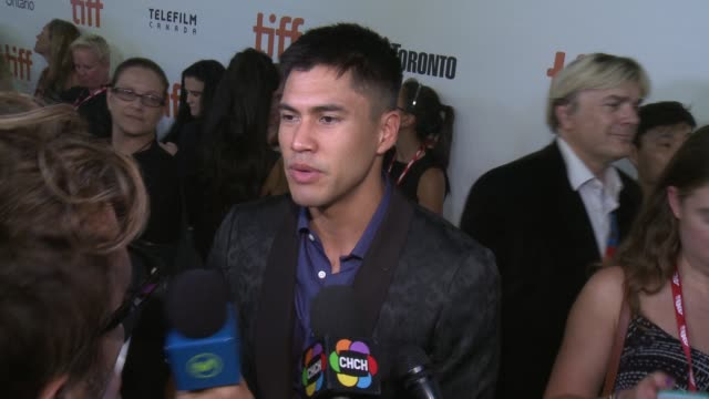 interview martin sensmeier on opening tiff if there was pressure to remake this film the most difficult part of making this movie the most fun part... - toronto international film festival stock videos and b-roll footage