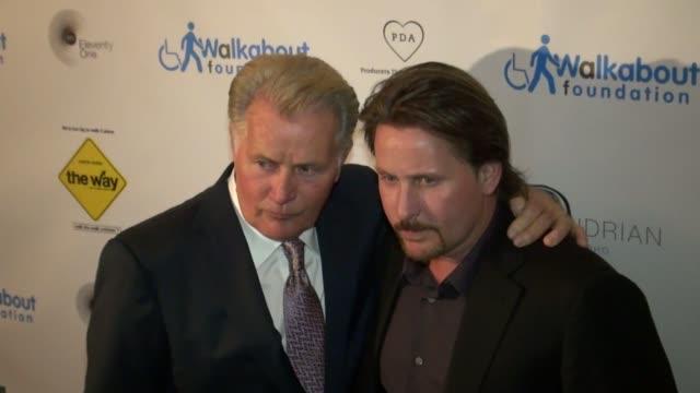 martin sheen and emilio estevez at 'the way' premiere in new york on 10/5/2011 - emilio estévez video stock e b–roll