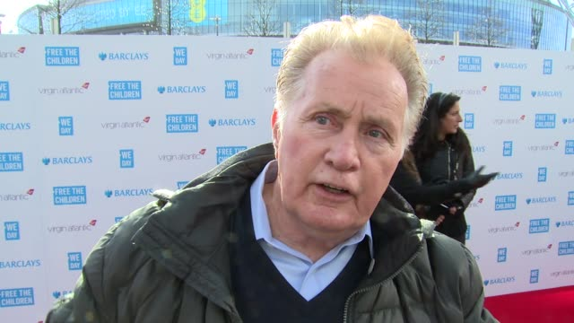 martin sheen on we day, current work and world book day at we day uk at wembley arena on march 5, 2015 in london, united kingdom - wembley arena stock videos & royalty-free footage