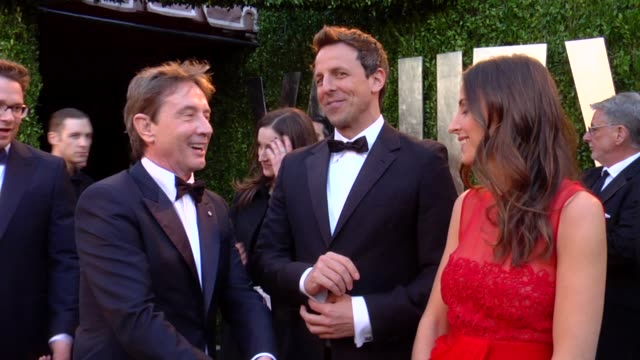 martin short and seth meyers at the 2013 vanity fair oscar party hosted by graydon carter martin short and seth meyers at the 2013 vanity at sunset... - martin short stock videos & royalty-free footage