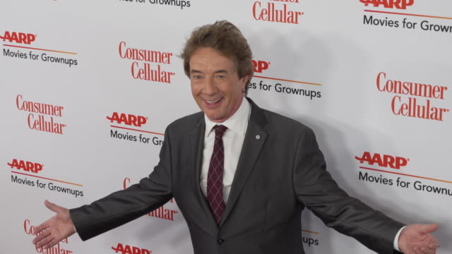 vídeos de stock, filmes e b-roll de martin short at the 18th annual movies for grownups awards at the beverly wilshire four seasons hotel on february 04, 2019 in beverly hills,... - martin short