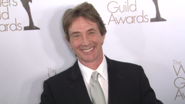 martin short at the the writers guild awards at hollywood ca - martin short stock videos & royalty-free footage
