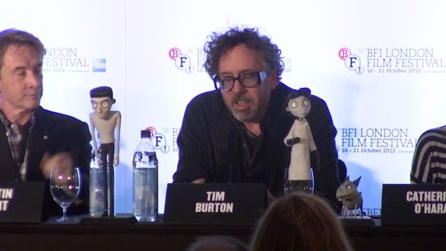 Martin Short Catherine O'Hara and Tim Burton on working with each other at Frankenweenie Press Conference at Corinthia Hotel London on October 10...
