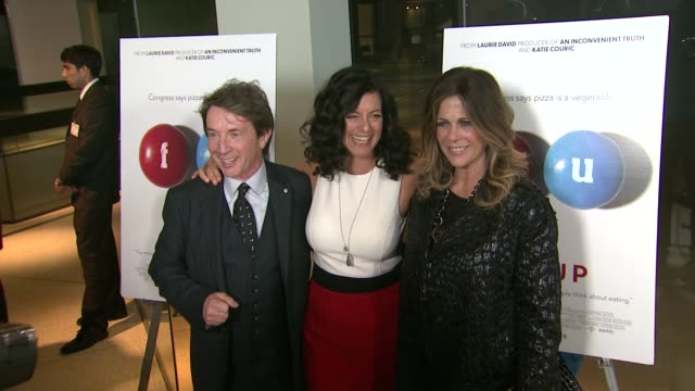 martin short laurie lennard and rita wilson at the fed up los angeles premiere at pacific design center on may 08 2014 in west hollywood california - martin short stock videos & royalty-free footage