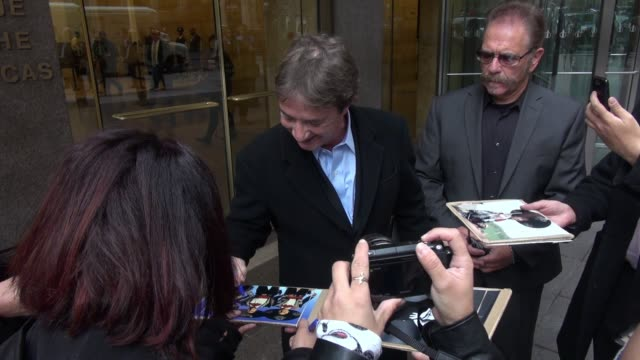 martin short leaves siriusxm satellite radio signs for fans in celebrity sightings in new york - martin short stock videos & royalty-free footage