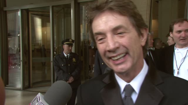martin short on diane keaton's work and comments on his current project writing at the film society of lincoln center tribute to diane keaton at... - martin short stock videos & royalty-free footage