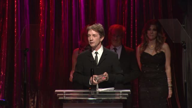 martin short receiving award at the 14th annual unforgettable evening benefiting the entertainment industry foundation's women's cancer research fund... - martin short stock videos & royalty-free footage