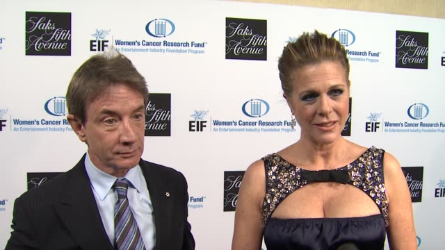 martin short rita wilson on what brings them out tonight why they've chosen to get involved in the fight against women's cancer if they have a... - martin short stock videos & royalty-free footage