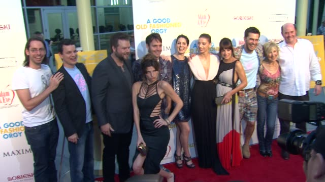 Martin Starr Tyler Labine Lake Bell Jason Sudeikis Angela Sarafyan Lindsay Sloane Lin Shaye David Koechner at the Los Angeles Premiere of 'A Good Old...