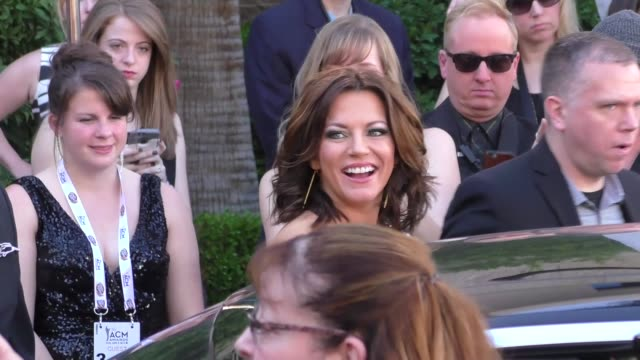 martina mcbride arriving to the 51st academy of country music awards at mgm grand hotel & casino in las vegas in celebrity sightings in las vegas, - martina mcbride stock videos & royalty-free footage