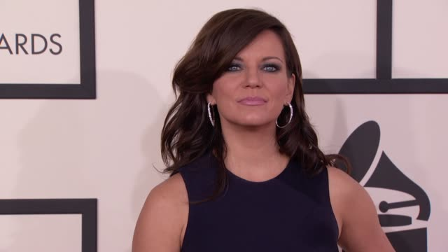 martina mcbride at the 56th annual grammy awards - arrivals at staples center on in los angeles, california. - martina mcbride stock videos & royalty-free footage