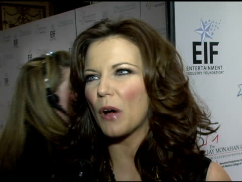 martina mcbride on her performance for the evening, being invited by kaite couric to attend and the importance of the message for the night and a... - martina mcbride stock videos & royalty-free footage