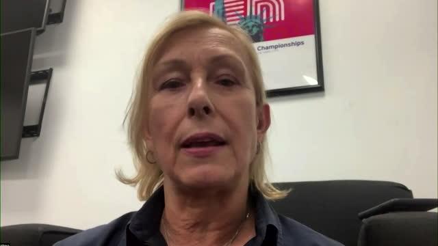 martina navratilova praising emma raducanu's mental toughness in her us open final win - challenge stock videos & royalty-free footage