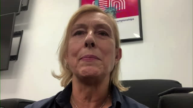 martina navratilova saying emma raducanu and her us open final opponent leylah fernandez are both future superstars of women's tennis - challenge stock videos & royalty-free footage