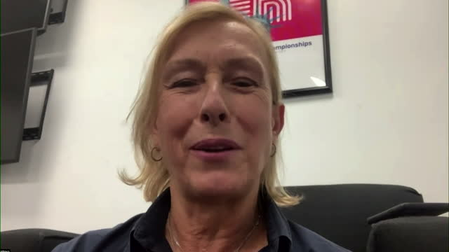 "martina navratilova saying new us open champion emma raducanu is ""the complete package"" - improvement stock videos & royalty-free footage"