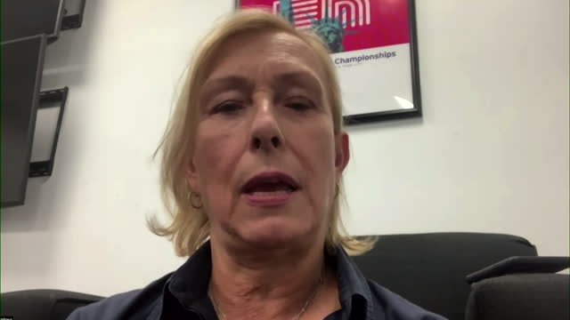"""martina navratilova saying she is """"blown away"""" by emma raducanu's victory at the us open - b roll stock videos & royalty-free footage"""