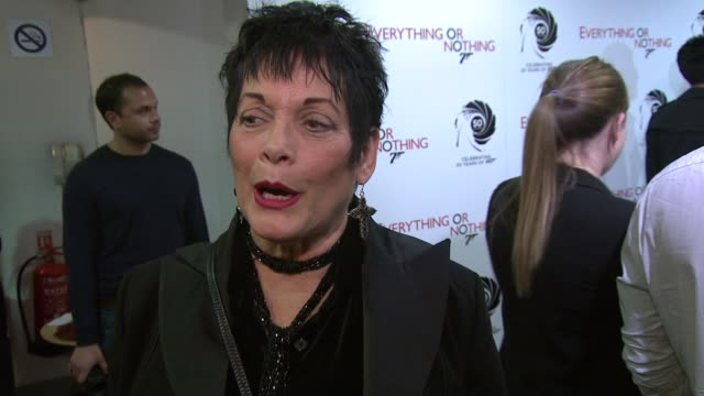 martine beswick former bond girl on loving the old movies best at everything or nothing the untold story of 007 at odeon leicester square on october... - bond girl fictional character stock videos & royalty-free footage
