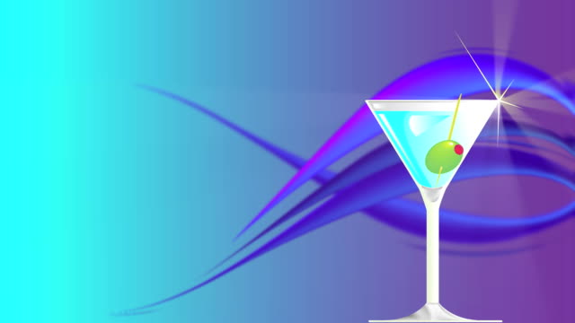 stockvideo's en b-roll-footage met martini drink background loop - martiniglas