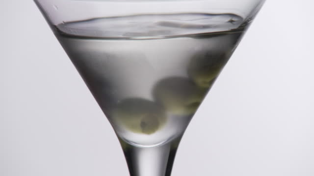 Martini olives added slow mo version 2