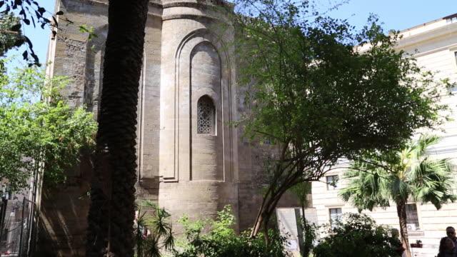 martorana (santa maria dell'ammiraglio) church, exterior view of the apse, palermo, sicily - apse stock videos & royalty-free footage