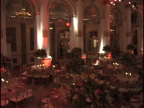 marty richards famous charity red ball on valentines day february 14, 1997. many celebrities as guests and honorees. - party social event video stock e b–roll