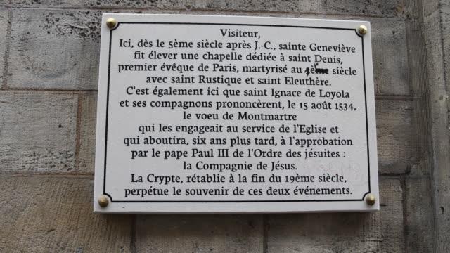 martyr chapel, paris - christian ender stock-videos und b-roll-filmmaterial