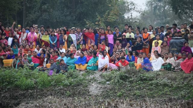 Martyr Maneshwar Basumatary Baksa Assam India 16 February 2019 Villagers Shout Slogan against Pakistan and Terrorist Groups in the cremation place of...