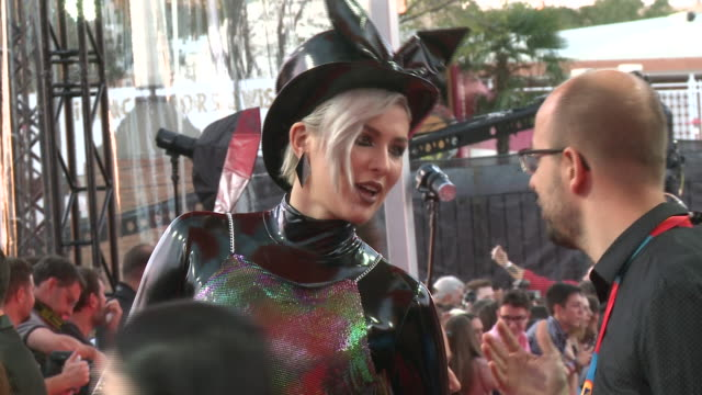 maruv attends the mtv emas 2019 at fibes conference and exhibition centre in seville - mtv europe music awards stock videos & royalty-free footage