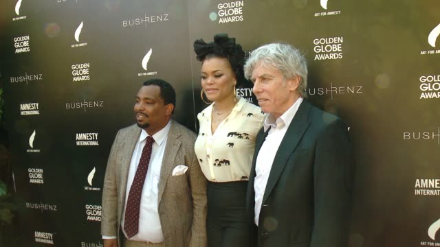 vídeos de stock e filmes b-roll de marvin bing andra day at art for amnesty's pregolden globes recognition brunch in los angeles ca - prémio globo de ouro