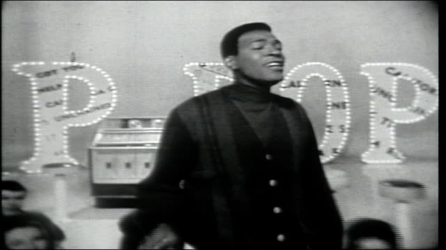 "marvin gaye performs excerpt of ""taste of honey."" - television show stock-videos und b-roll-filmmaterial"
