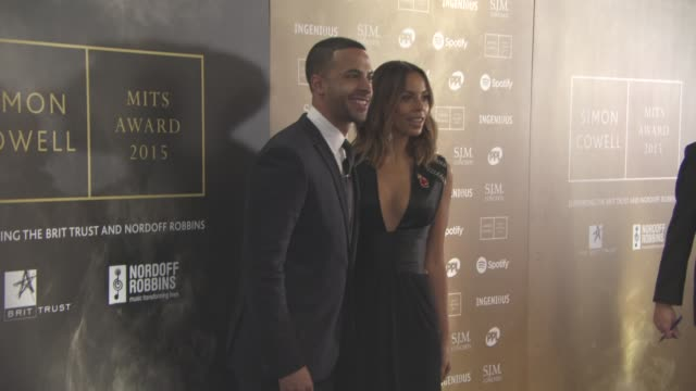Marvin Humes Rochelle Humes at Music Industry Trust Awards at Grosvenor House on October 2 2015 in London England