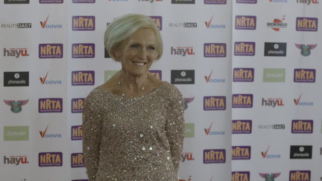 mary berry at national reality tv awards on september 29 2016 in london england - reality tv stock videos and b-roll footage