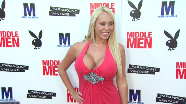 vídeos y material grabado en eventos de stock de mary carey at the 'middle men' premiere at hollywood ca - mary carey